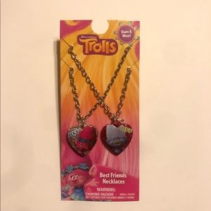 TROLLS BEST FRIEND NECKLACES- SET OF 2